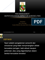 Biopsychological Aspect of Pain - Role of Psychologist