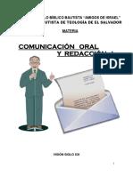 Folleto Comunicacin Oral y Redaccin i