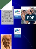Presentacion de La Ley para una Convivencia Libre de Violencia en el Entorno Escolar para el estado de Guanajuato y sus Munciipios