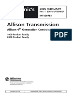 Allison 30004000 Series Troubleshooting   Manual