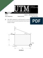 Engineering Mechanic Test 2 sem 1 sesi 1011 + solution