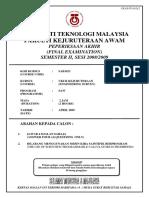 Survey Exam 2008
