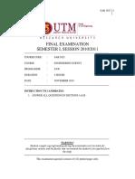 Survey Exam 2010