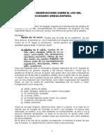 Griego - Uso Del Diccionario
