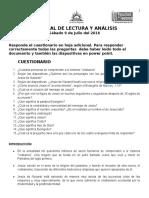 Lectura y Análisis 9 de Julio