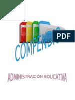 Compendio Administracion Educativa 2016