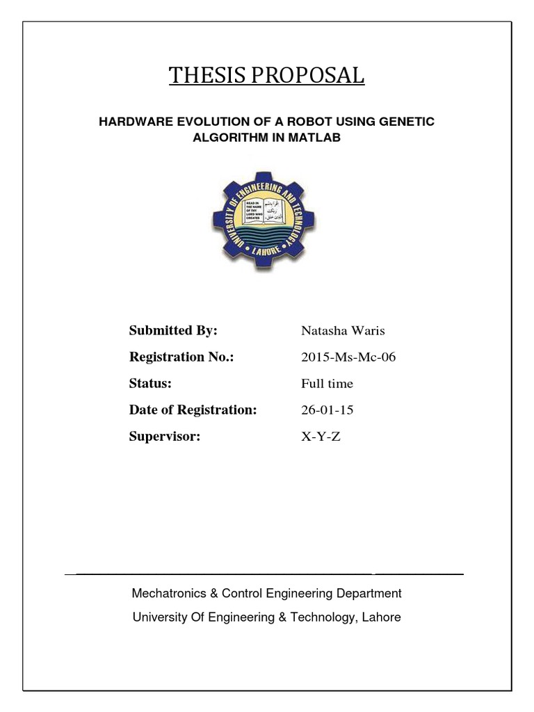 Research Proposal   Genetic Algorithm   Fitness (Biology)