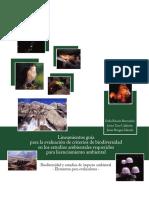 Lineamientos Guía Para La Evaluación de Criterios de Biodiversidad en Los Estudios Ambientales Requeridos