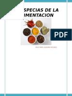 Especias de La Condimentacion