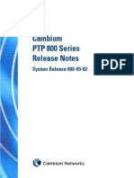 Cambium PTP800 Series 05-02 System Release Notes