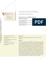 Context, Electoral Rules, and Party Systems