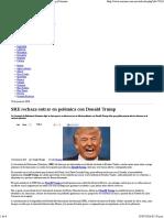 23-06-16 SRE Rechaza Entrar en Polémica Con DEonald Trump