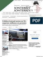 25-06-16 Celebra Lotenal Sorteo en NL. Reparten Millones en Premios - Grupo Milenio
