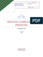 Léxico Gestión de Proyectos 150928