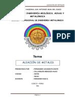 Monografia de Aleación de Metales