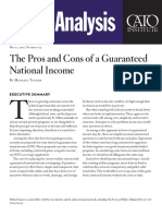 The Pros and Cons of a Guaranteed National Income