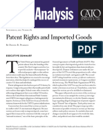 Patent Rights and Imported Goods