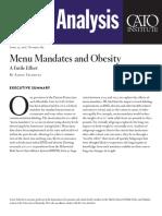 Menu Mandates and Obesity