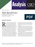 Hate Speech Laws