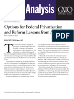 Options for Federal Privatization and Reform Lessons from Abroad