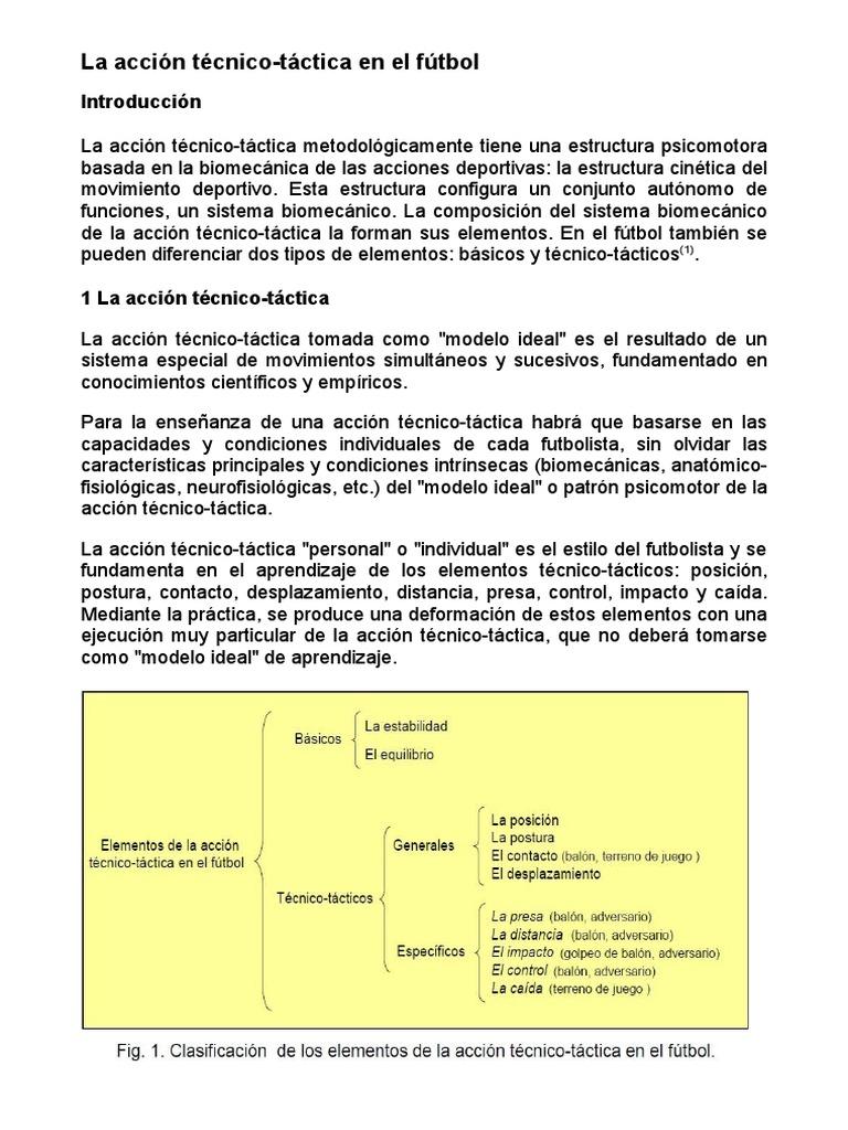 La Accion Tecnico Tactica en El Futbol c6cf46629da2f