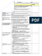 Intake Session TEMPLATE Checklist