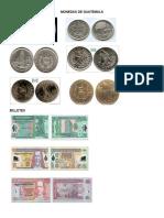 Monedas de los paises de Centroamerica