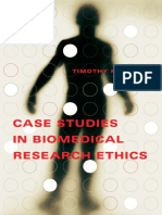Timothy F. Murphy-Case Studies in Biomedical Research Ethics-The MIT Press (2004)