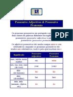 Possessive Adjectives & Possessive Pronouns