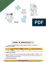 UNIDAD DE APRENDIZAJE N° 05  1° GRADO  ED. PRIMARIA 2016 JULIO