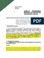 Req de Detecnion Preliminar Judicial