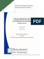 Cadenas Globales de Valor y Transferencia de Tecnologia
