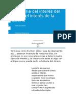 La Historia Del Interés Del Dinero
