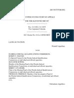 Laura M. Watson v. Florida Judicial Qualifications Commission, 11th Cir. (2015)