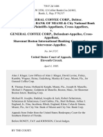 In Re General Coffee Corp., Debtor. City National Bank of Miami & City National Bank Corporation, Cross-Appellees v. General Coffee Corp., Cross-Appellant, Shawmut Boston International Banking Corporation, Intervenor-Appellee, 758 F.2d 1406, 11th Cir. (1985)