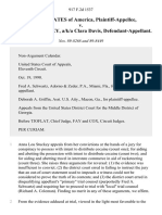 United States v. Anna Lou Stuckey, A/K/A Clara Davis, 917 F.2d 1537, 11th Cir. (1990)