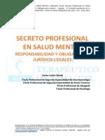 Secreto Profesional en Salud Mental - Responsabilidad y Obligaciones Juridico-legales
