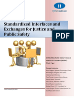 Standardized Interfaces and Exchanges for Justice and Public Safety