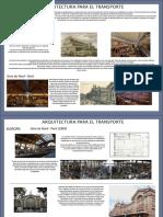 Comparativa entre arquitectura de estaciones de ferrocarril