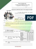 B.4 Teste Diagnóstico Os Serviços e o Turismo 1