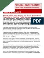 (2016) Police, Prison, And Profits
