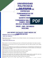 Proyecto Redes Sociales Fundamentos de Marketing