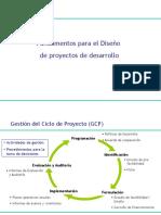 Fundamento Para El Diseño de Proyectos de Desarrollo