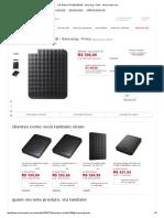 HD Externo Portátil 500GB - Samsung - Preto - Americanas
