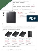 HD Externo Portátil 500GB M3 USB 3.0 - Preto - Samsung - Americanas