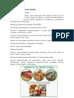 Alimentos de Origen Anima1