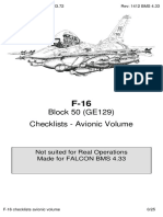 Avionic Checklists