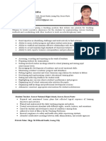 Resume for Teaching