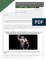 Đốt Cháy Calo Hiệu Quả Cùng 11 Bài Tập MMA