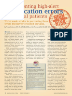 Anderson & Townsend Preventing High-Alert Medication Errors in Hospitalized Patients